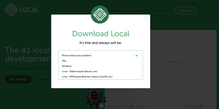 WordPress local - Download Local from localwp.com