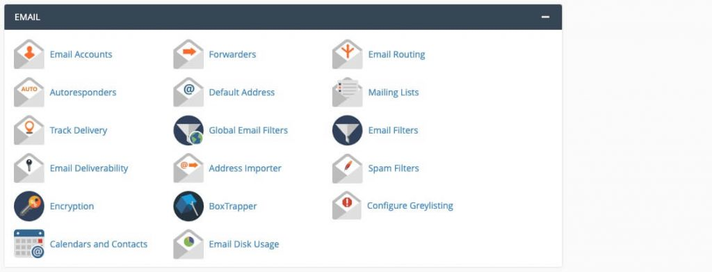 cPanel email interface