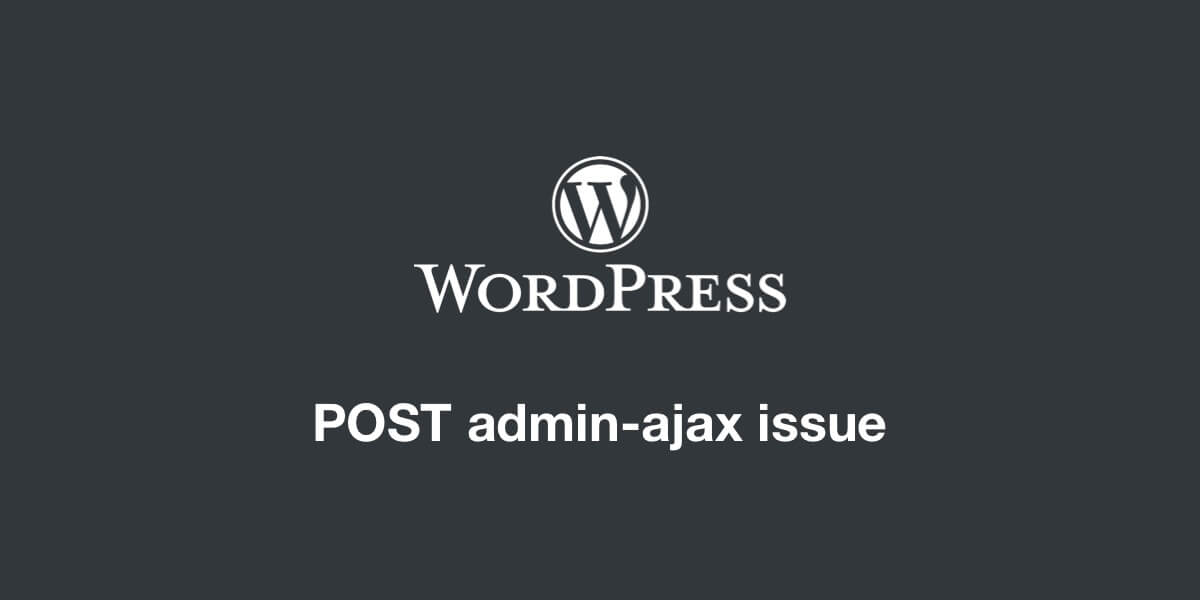 Cover Post Admin-Ajax Issue